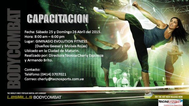 BODYCOMBAT Capacitación Gimnasio Evolution Fitness
