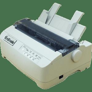 impressora embraille lateral mostrando os botões