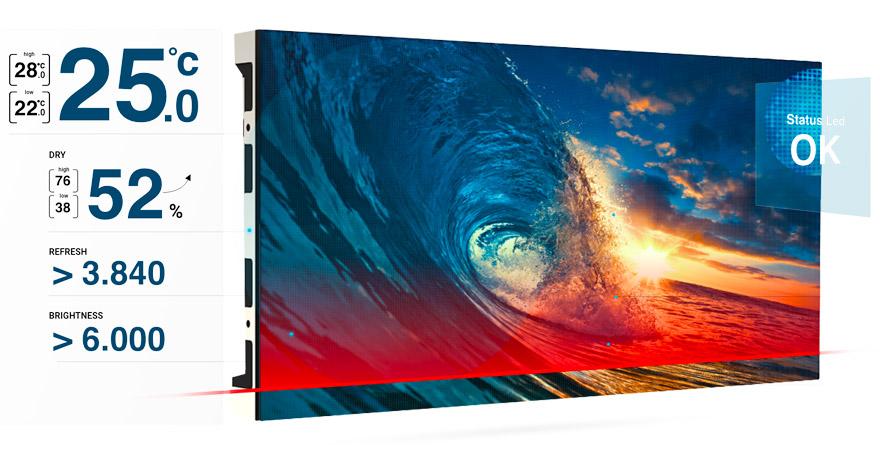 controllo remoto smart led wall pixel detection elettronica NOVA interfacciamento software FluidNEXT