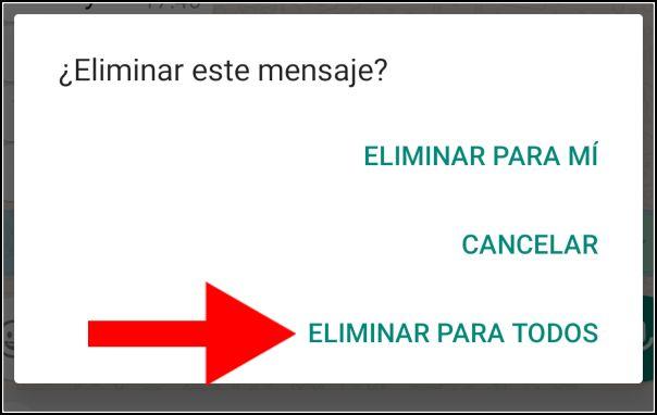 eliminar WhatsApp para todos
