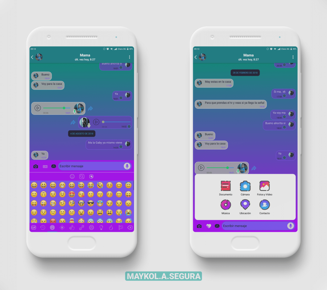 Tema colores para WhatsApp