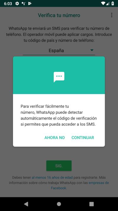 permisos sms