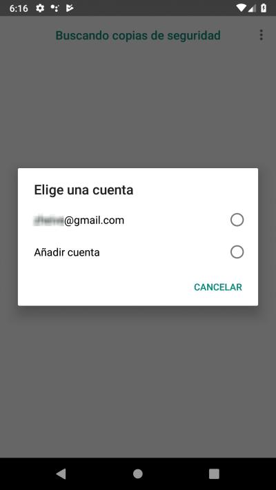selecciona cuenta gmail