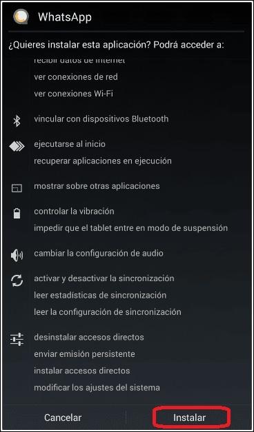instalar WhatsApp Material D2