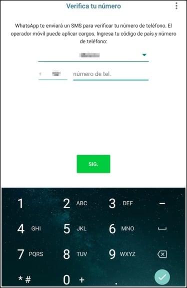 verificar número WhatsApp Business