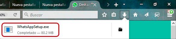 Ejecutable de WhatsApp para Windows