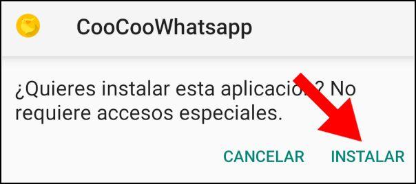 instalar coocoowhatsapp