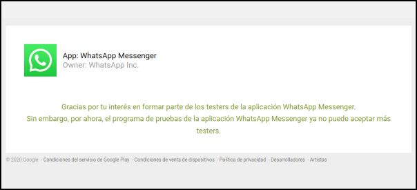 Participar en la beta de WhatsApp