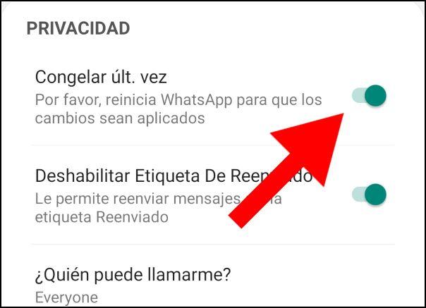 ocultar online, WhatsApp Aero