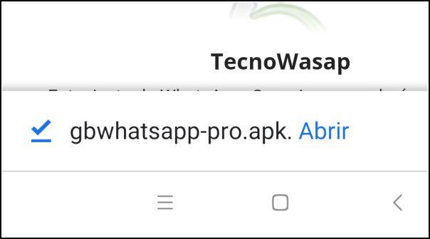 abrir app GBWhatsApp Pro
