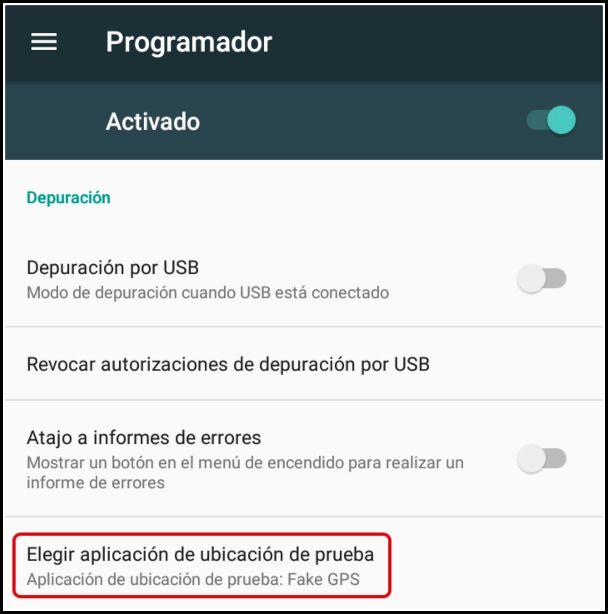 fake GPS para Android