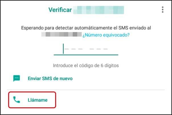 verificar WhatsApp en teléfono fijo