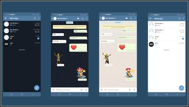 diseño chats WA WhatsApp