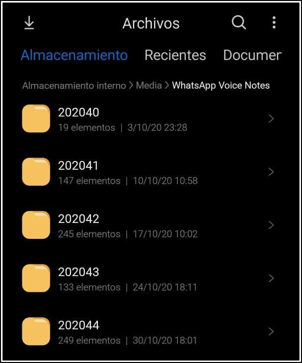 notas de voz guardadas whatsapp