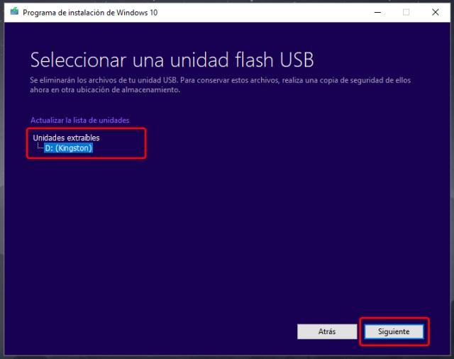 Cómo crear un USB de instalación de Windows 10