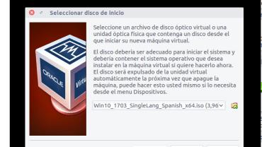 iniciar máquina virtual seleccionando Windows 7