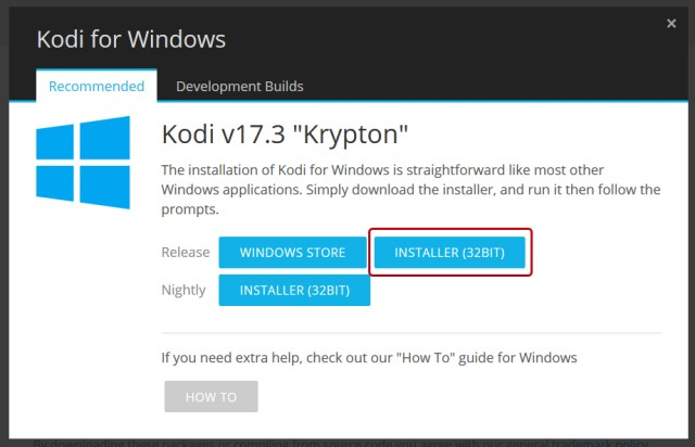 Cómo instalar Kodi en Windows 10