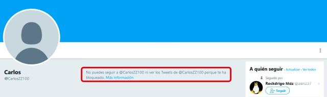 Cómo saber si me han bloqueado en Twitter desde Windows