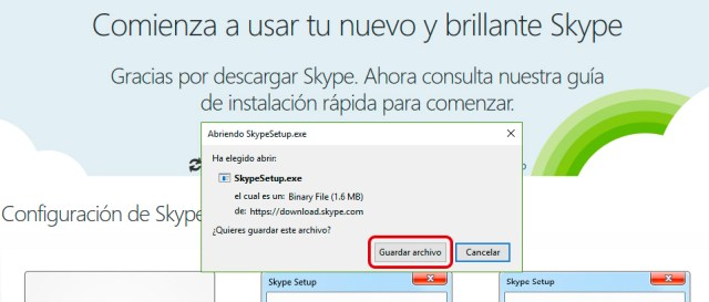 Cómo instalar la última versión de Skype en Windows 10