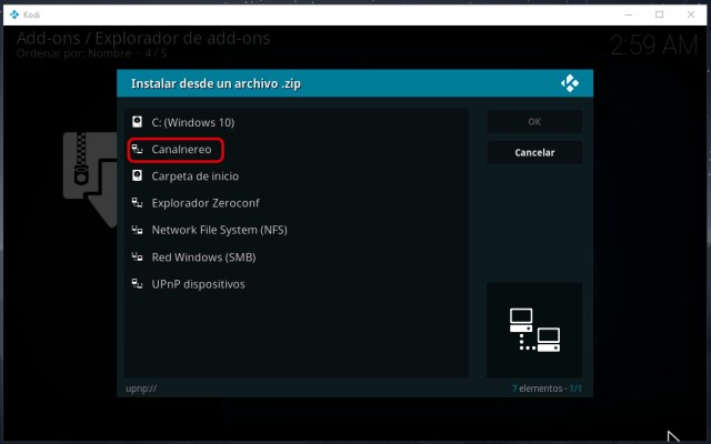Cómo instalar la última versión del addon Palantir en Kodi
