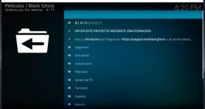 Instalando Black Ghost en Kodi