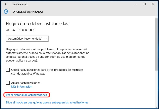 Dónde encontrar Windows Update en Windows 10
