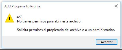 No tienes permisos para abrir este archivo: Solución