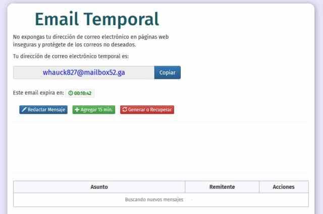 Cómo crear un email temporal (2018)