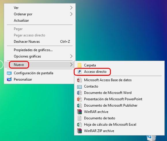 Cómo apagar Windows 10 desde el escritorio