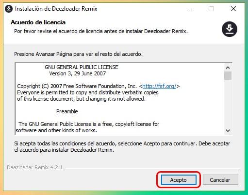 Descargar e instalar Deezloader Remix para Windows 10 (Abril 2019)