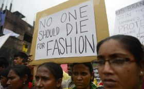 Workers protesting in Bangladesh