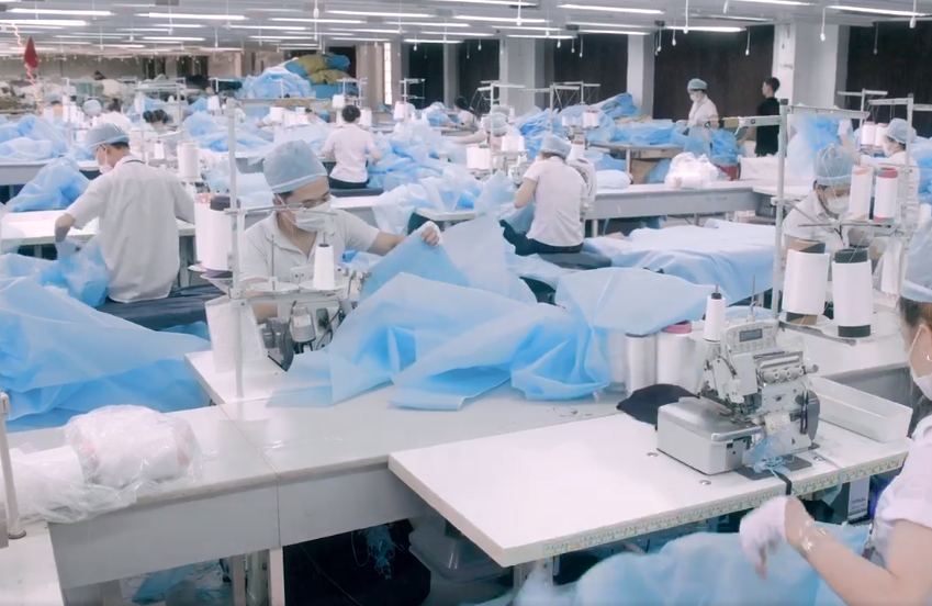 Medical gown level 1 factory line