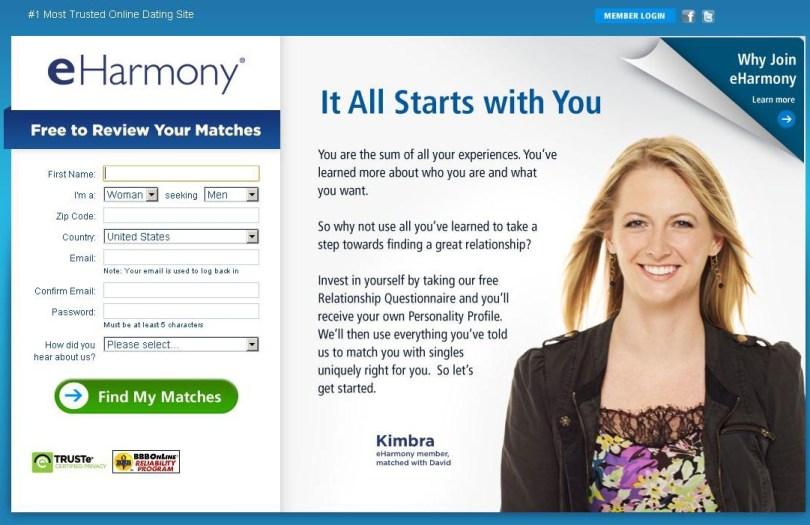 eharmony dating online