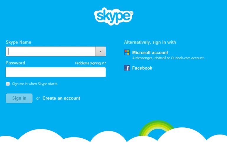 Skype Facebook