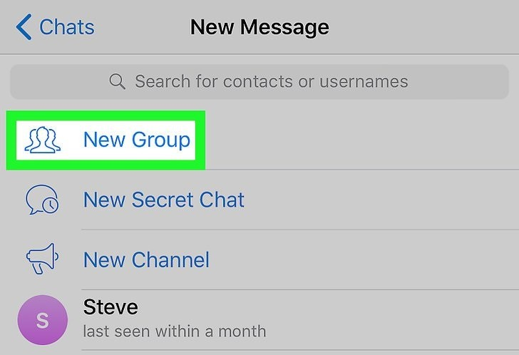 How to Create Telegram Group Chat