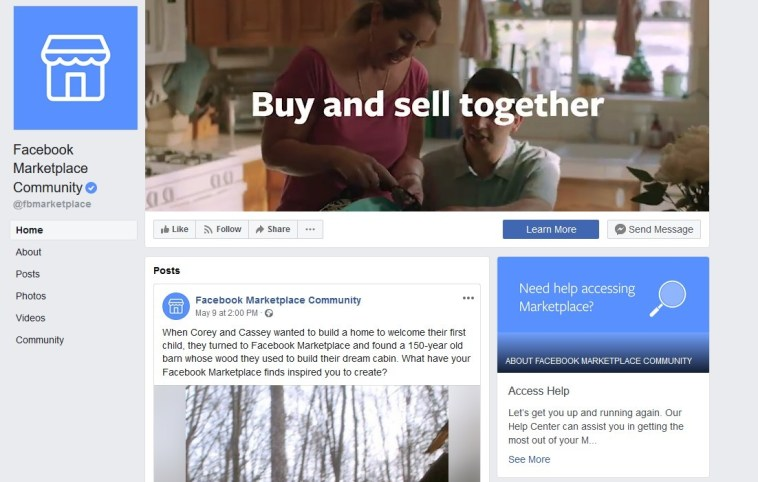 Search Facebook Marketplace