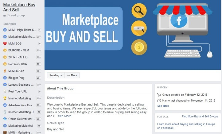 Facebook Selling Group Near Me