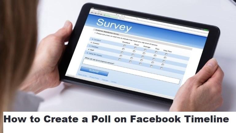 Create Facebook Survey