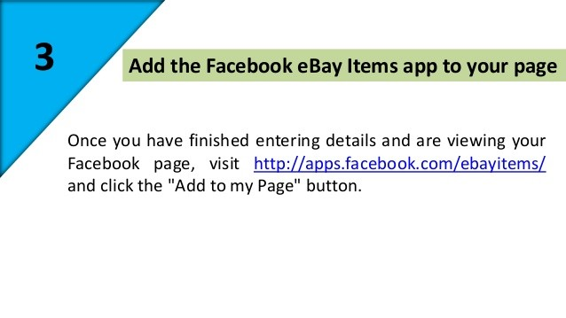 Add eBay Store on Facebook Page