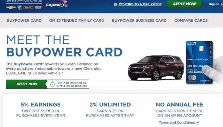 Capital One Buypower Card Review