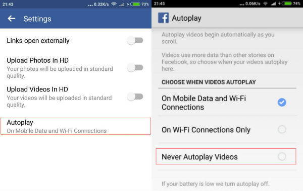 How to Change Facebook Video Autoplay Settings