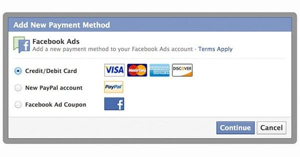 How to Add PayPal to Facebook Payment Method
