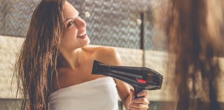 woman hair dryer