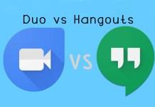 Duo vs Hangouts