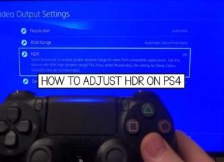 Adjust HDR PS4