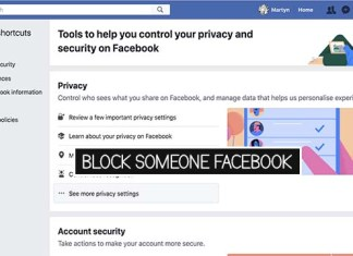 Block Someone Facebook