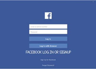 Facebook Log In Or Signup