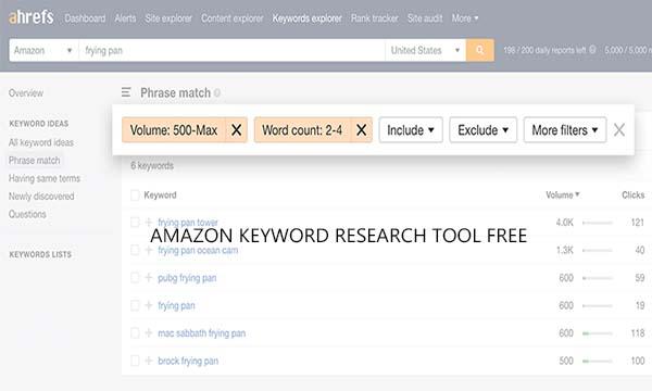 Amazon Keyword Research Tool Free