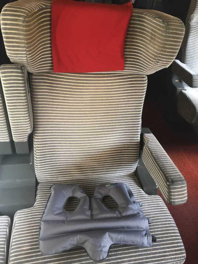 SoftAirSeat Basic+Im Schnellzug TGV Anwendung Einsatz Nutzung
