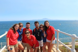 The monitors and teachers with the director in Gibraltar